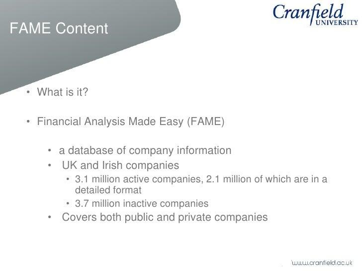 Key Financials: FAME & Amadeus