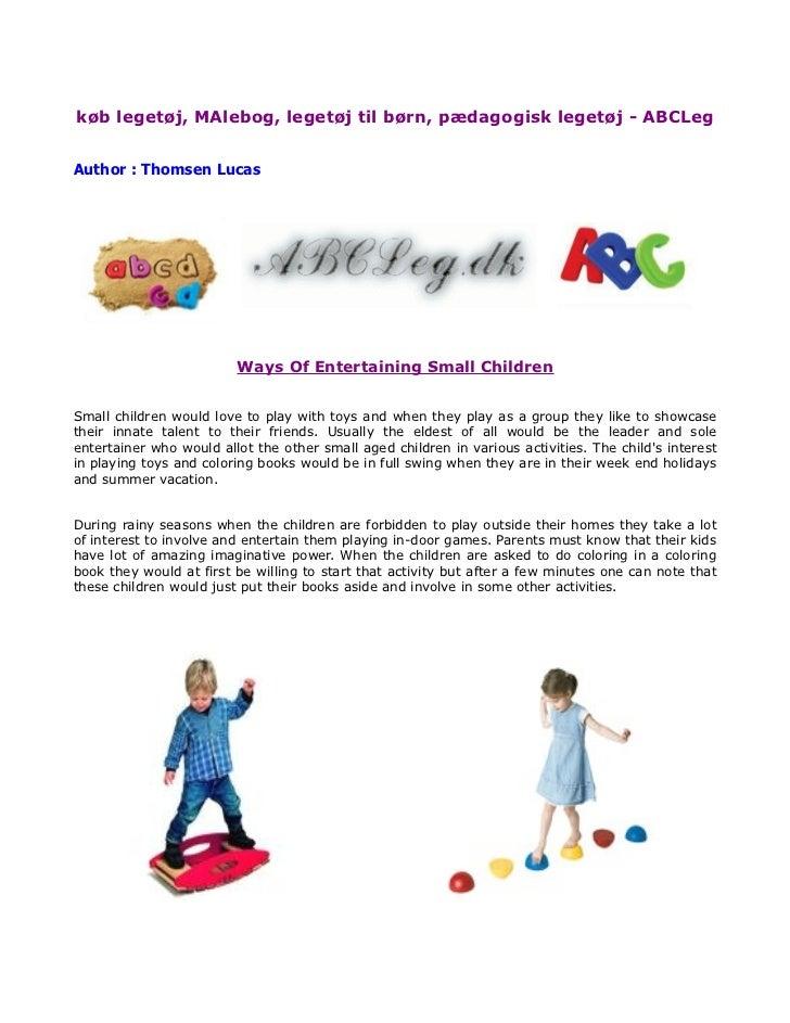 køb legetøj, MAlebog, legetøj til børn, pædagogisk legetøj - ABCLegAuthor : Thomsen Lucas                         Ways Of ...
