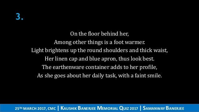 Kaushik Banerjee Memorial Quiz 2017 finals