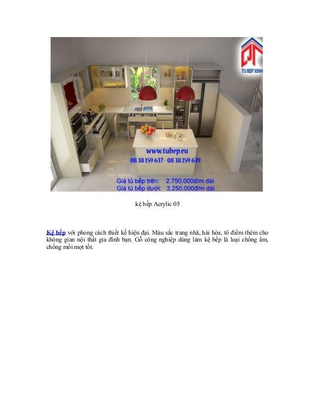 Kệ bếp gỗ công nghiệp tại tủ bếp xinh Slide 2