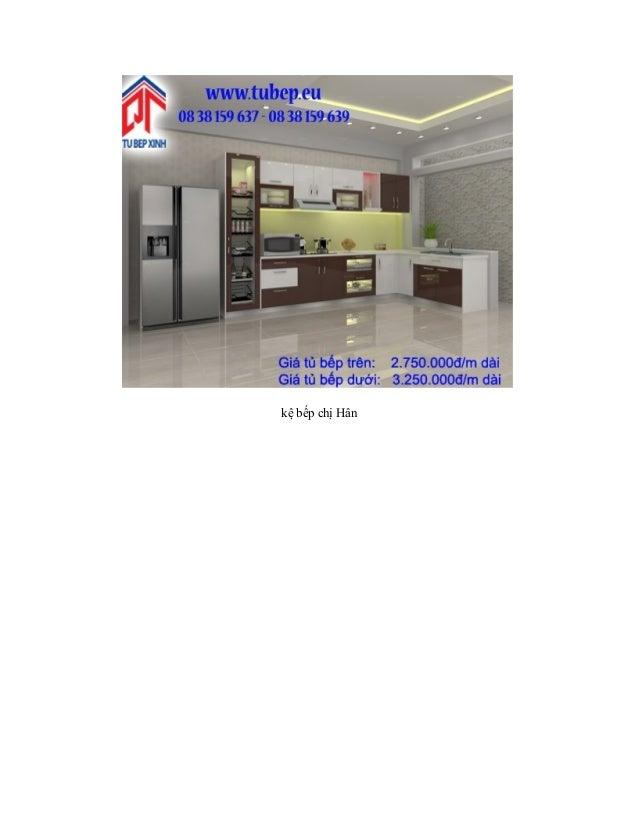 Kệ bếp với không gian thiết kế hiện đại Slide 2