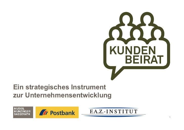 Ein strategisches Instrumentzur Unternehmensentwicklung                               1