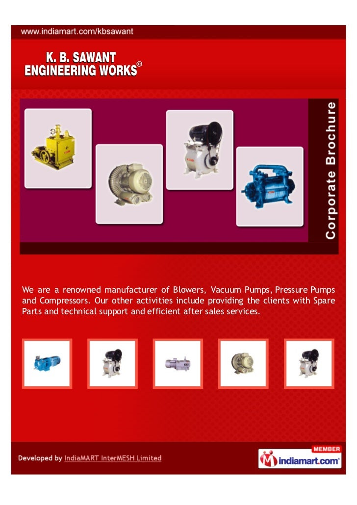 We are a renowned manufacturer of Blowers, Vacuum Pumps, Pressure Pumpsand Compressors. Our other activities include provi...