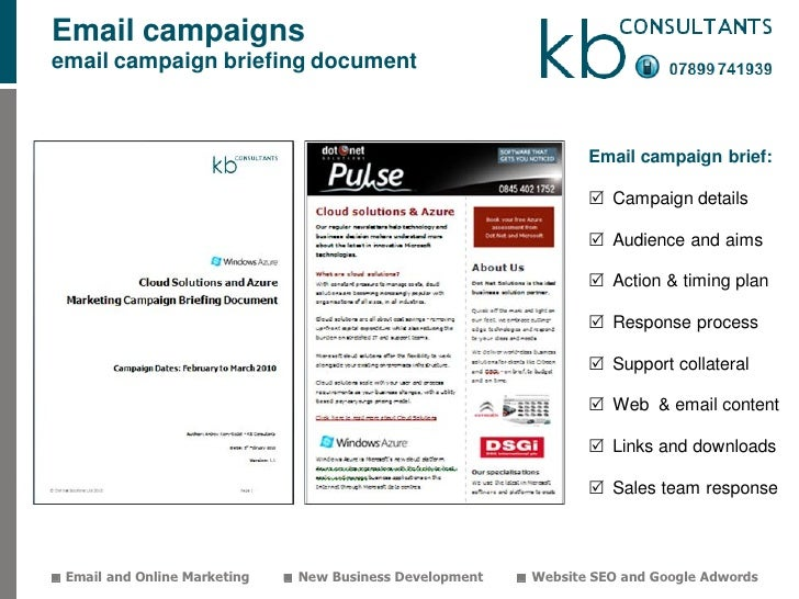 KBC Marketing Service Packages