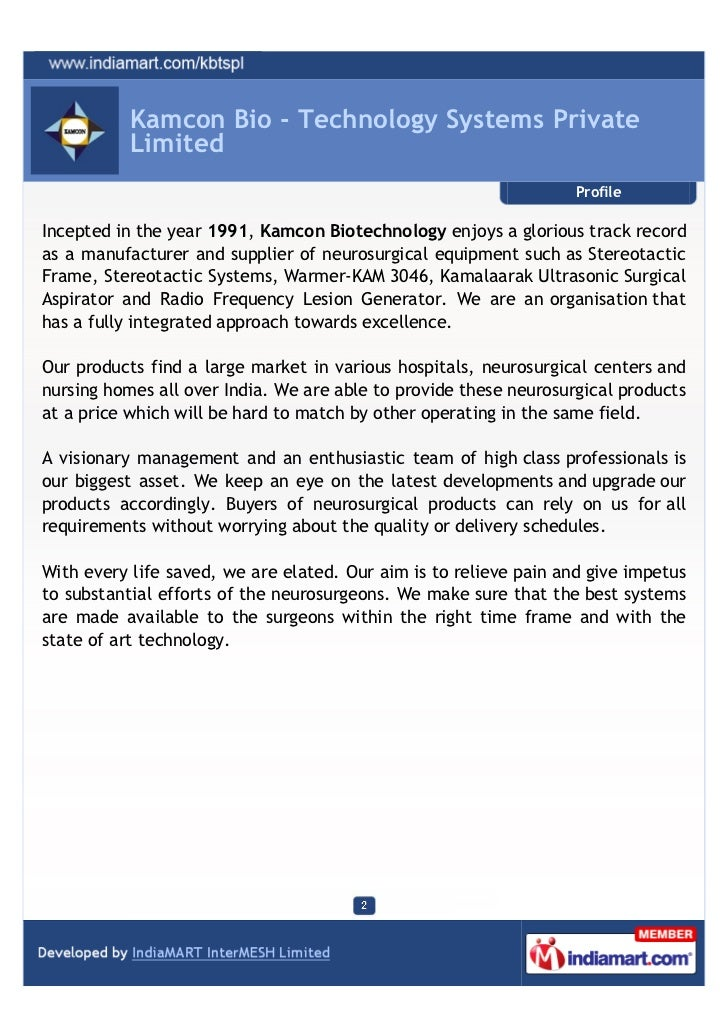 Kamcon Bio - Technology Systems Private           Limited                                                                 ...