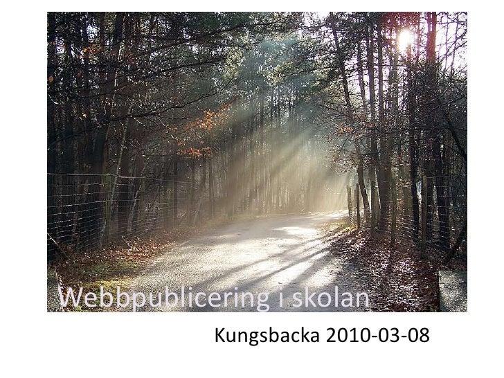 Webbpublicering i skolan Kungsbacka