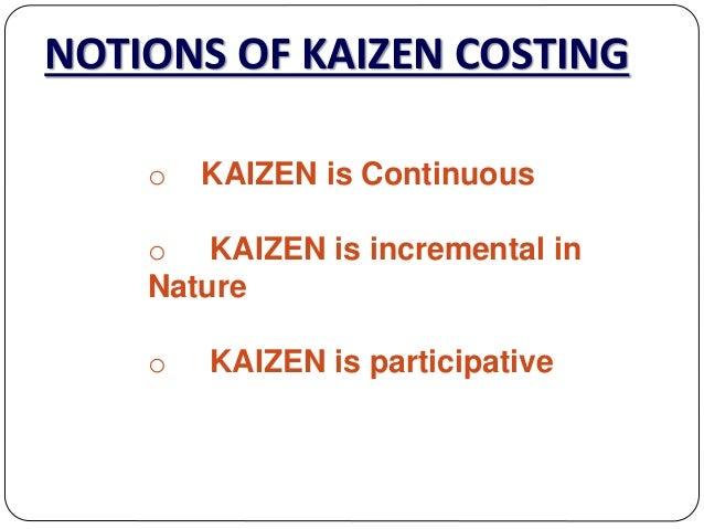 kaizen costing advantages and disadvantages pdf