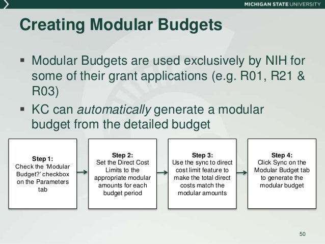 Budget development in kc 49 creating nih modular budgets 50 maxwellsz