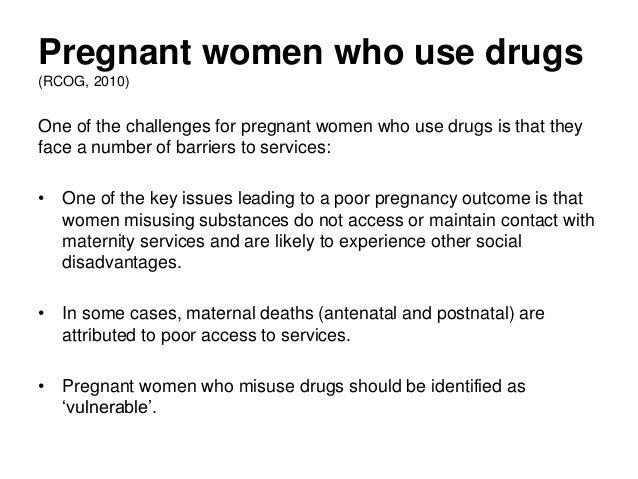 Essays on drug use during pregnancy