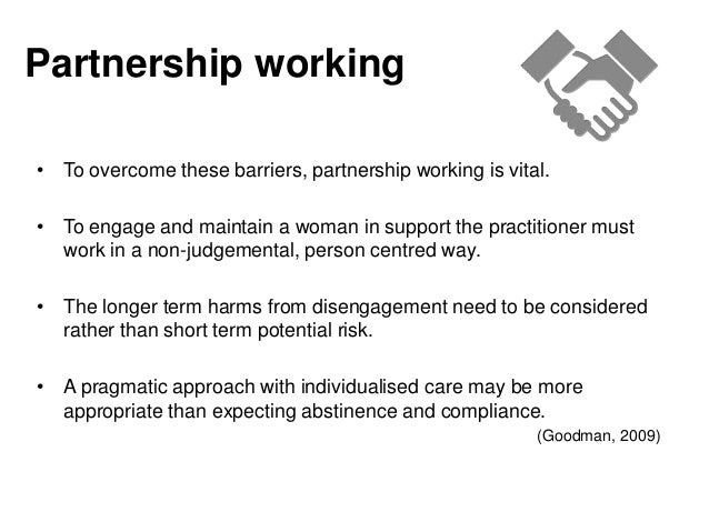1 4 explain how to overcome barriers to partnership working