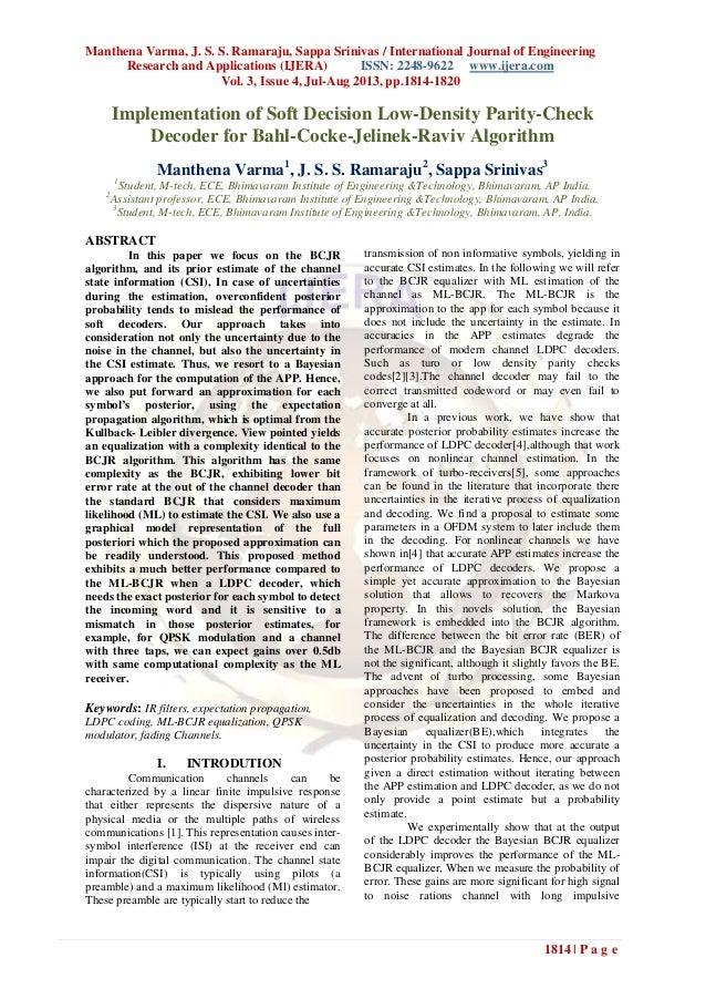 Manthena Varma, J. S. S. Ramaraju, Sappa Srinivas / International Journal of Engineering Research and Applications (IJERA)...