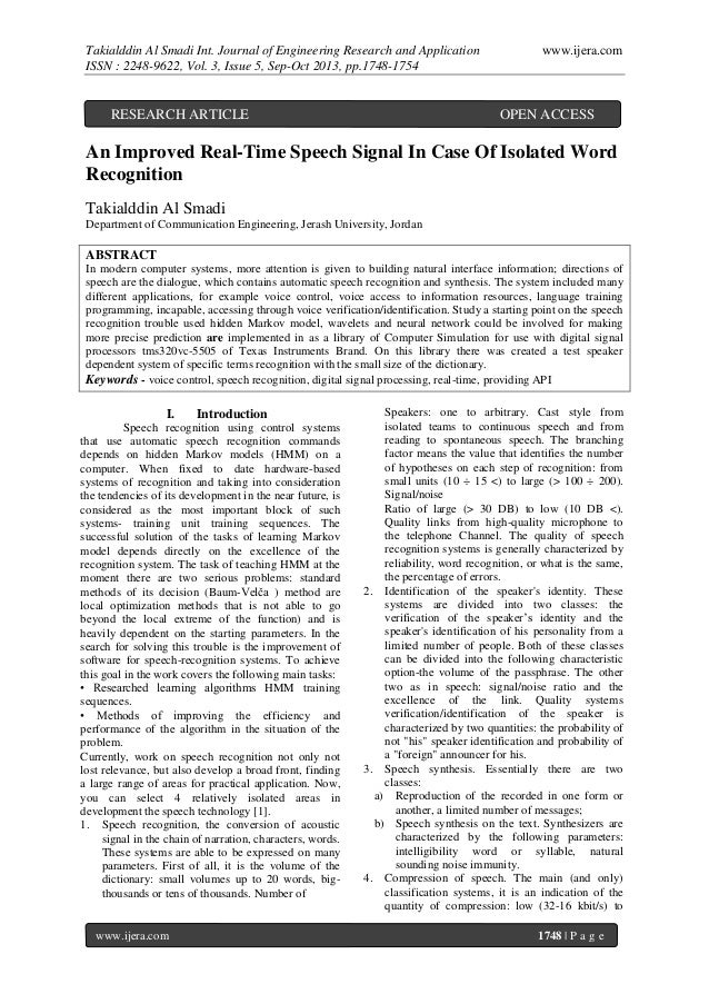 Takialddin Al Smadi Int. Journal of Engineering Research and Application ISSN : 2248-9622, Vol. 3, Issue 5, Sep-Oct 2013, ...