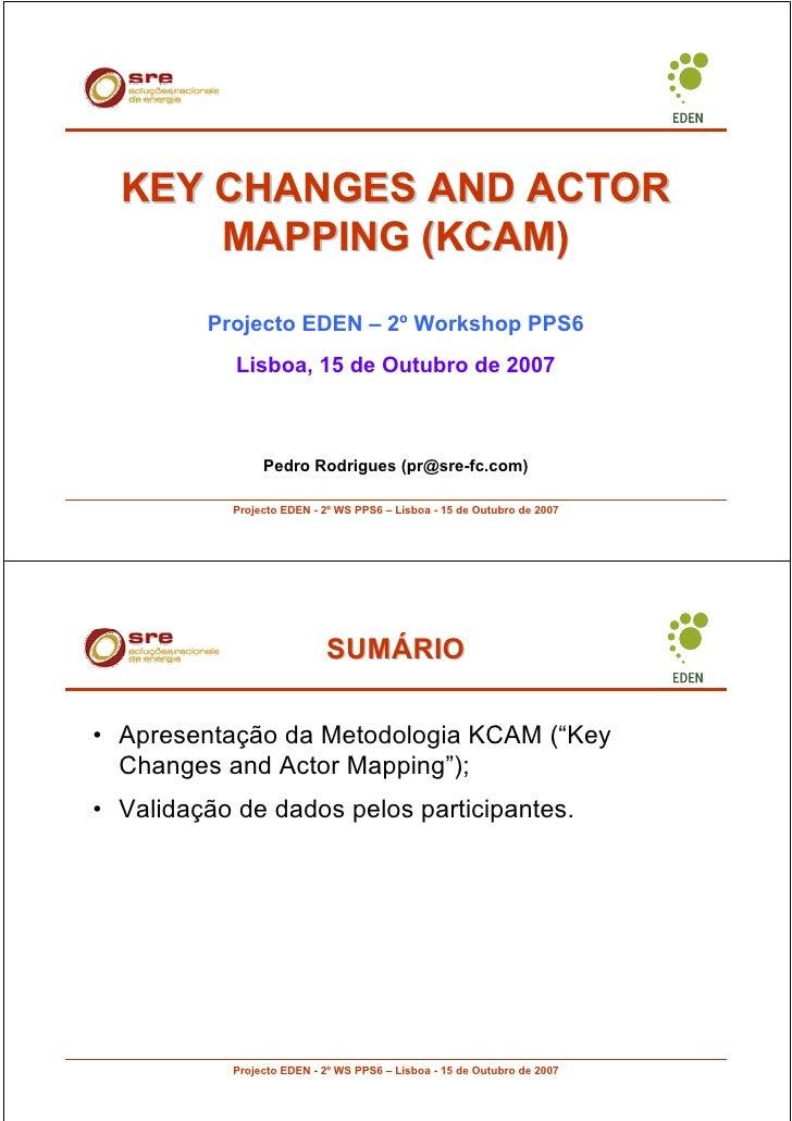 KEY CHANGES AND ACTOR       MAPPING (KCAM)           Projecto EDEN – 2º Workshop PPS6             Lisboa, 15 de Outubro de...