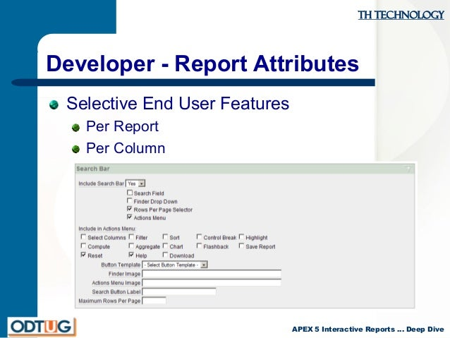 apex 5 interactive reports deep dive and upgrade advice