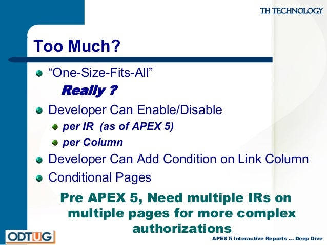 APEX 5 Interactive Reports: Deep Dive and Upgrade Advice