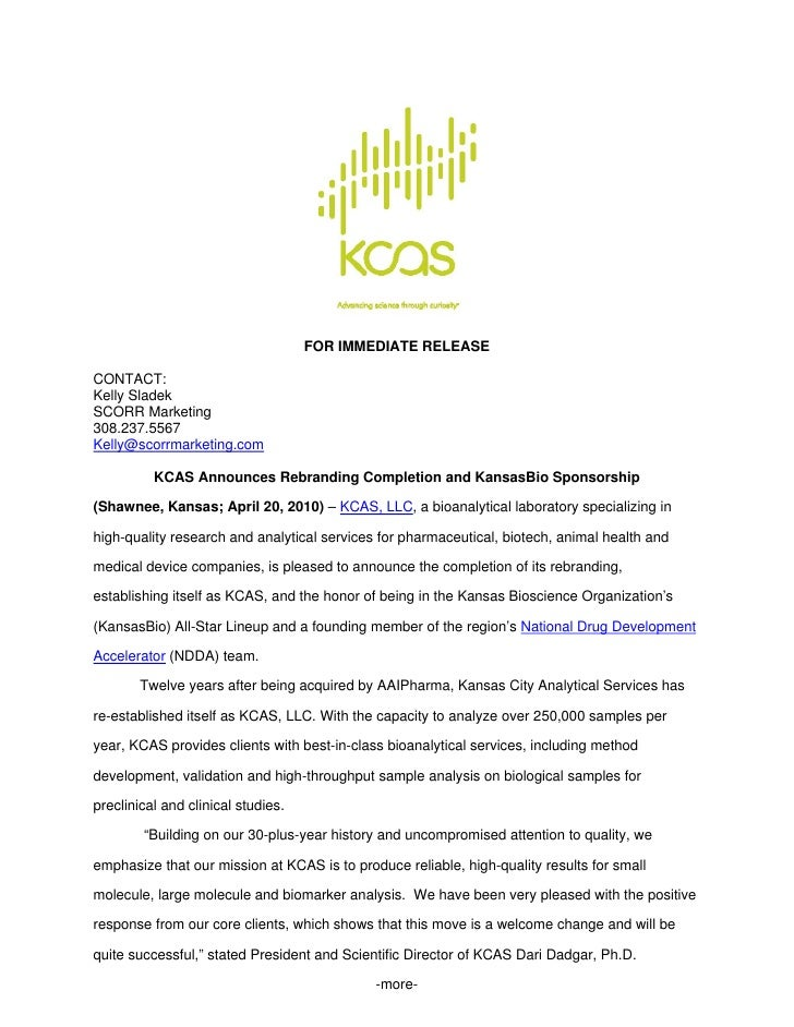 Kcas Rebranding Allstar Press Release