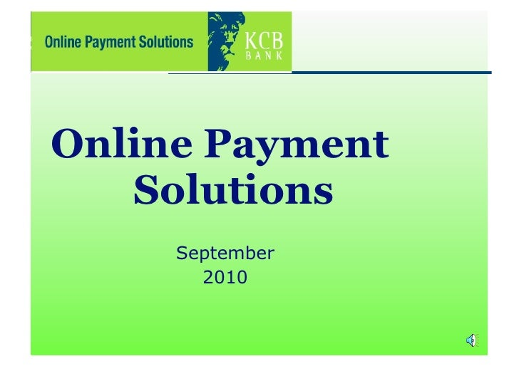 Online Payment    Solutions      September        2010
