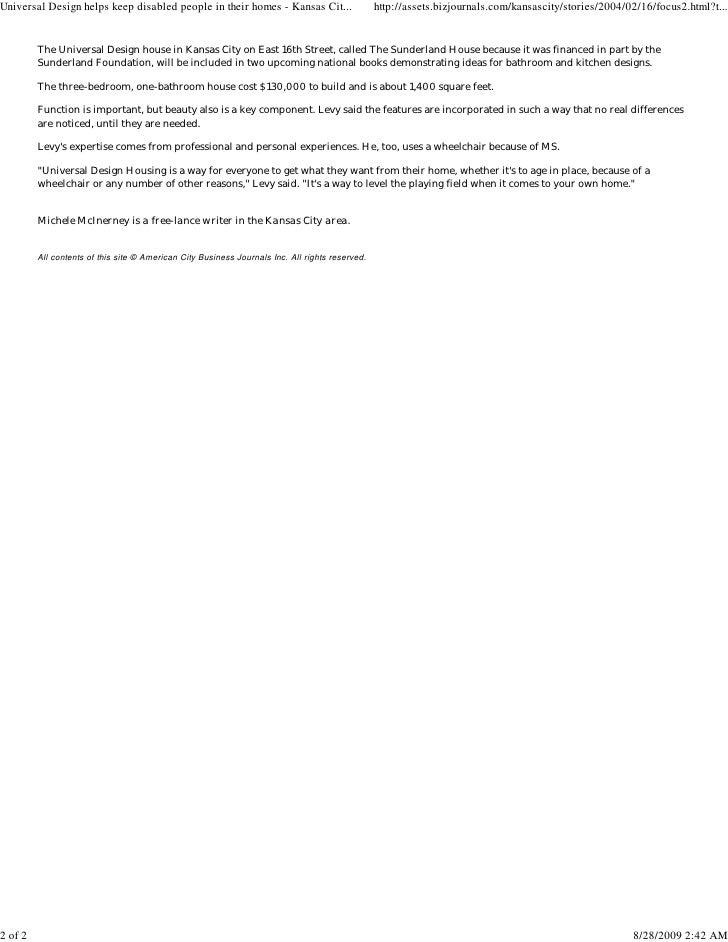 Kc Business Journal on assistive technologies for disabled, standing frame for disabled, bathrooms for disabled, kitchens for disabled, space planning for disabled, flooring for disabled, assisted living for disabled, home modifications for disabled, transportation for disabled,
