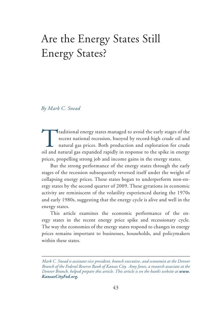 Are the Energy States Still Energy States?    By Mark C. Snead     T          raditional energy states managed to avoid th...