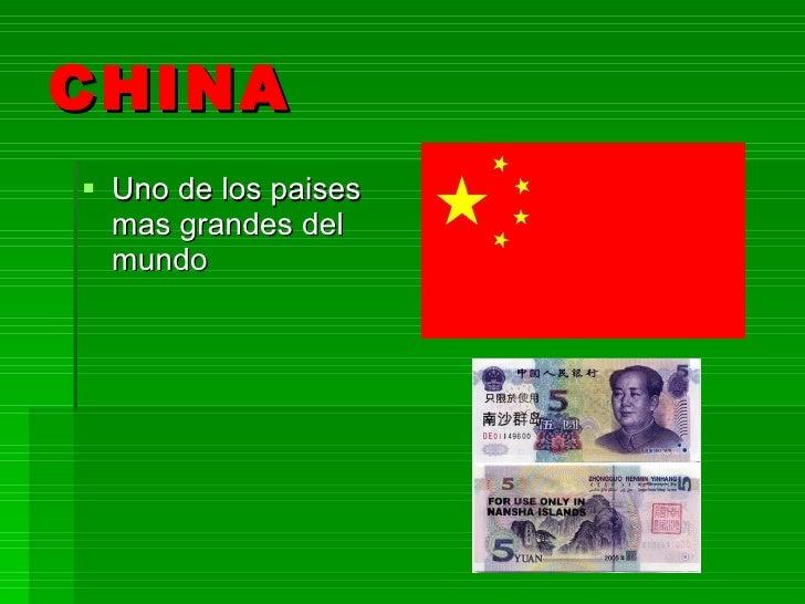 CHINA <ul><li>Uno de los paises mas grandes del mundo </li></ul>