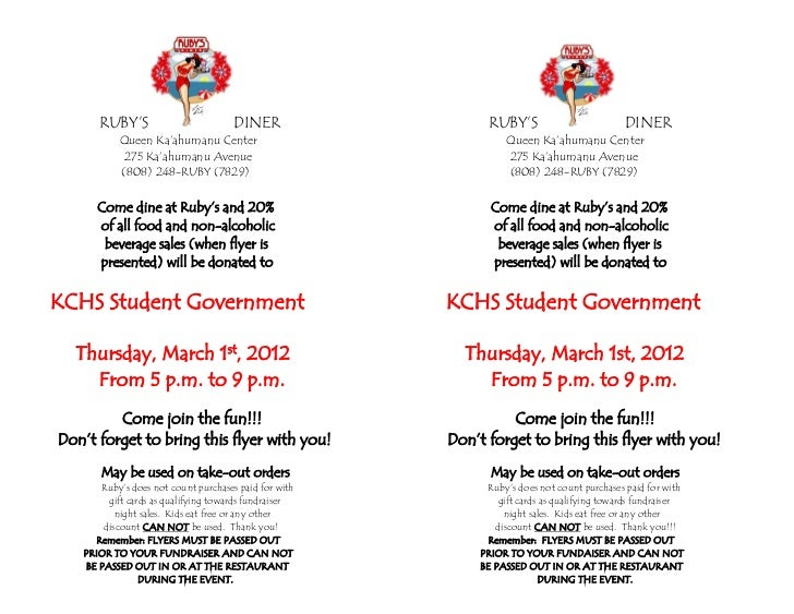 KCHS Student Government Fundraiser Flyer