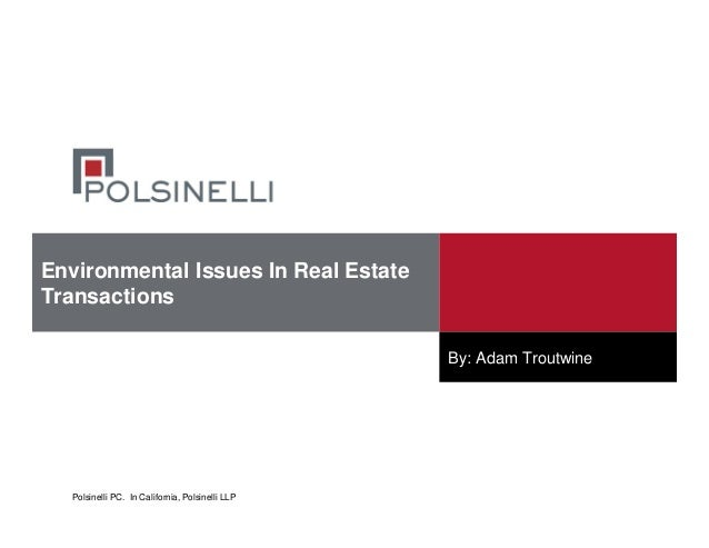 Hot Environmental Issues In Real Estate Transactions