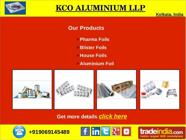 Aluminum Foils Supplier in Kolkata   KCO ALUMINIUM LLP Slide 3