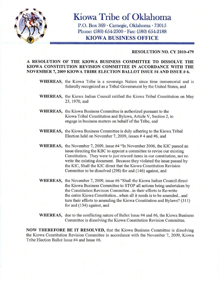 Kcrc Resolution To Dissolve 1 12 10
