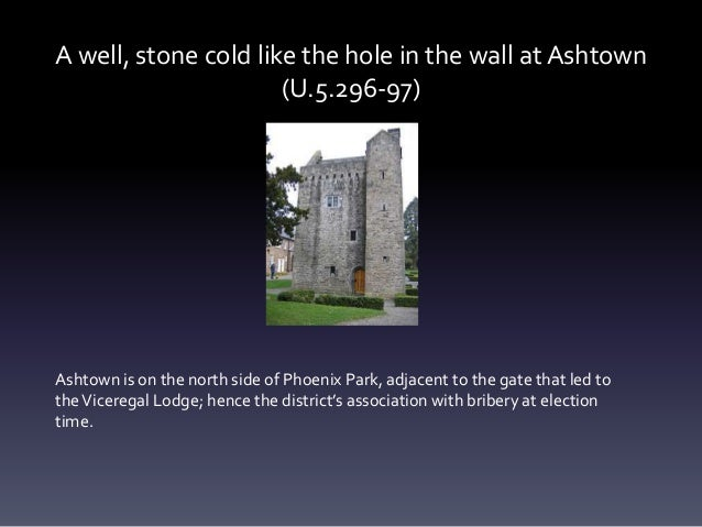 A well, stone cold like the hole in the wall at Ashtown (U.5.296-97) Ashtown is on the north side of Phoenix Park, adjacen...