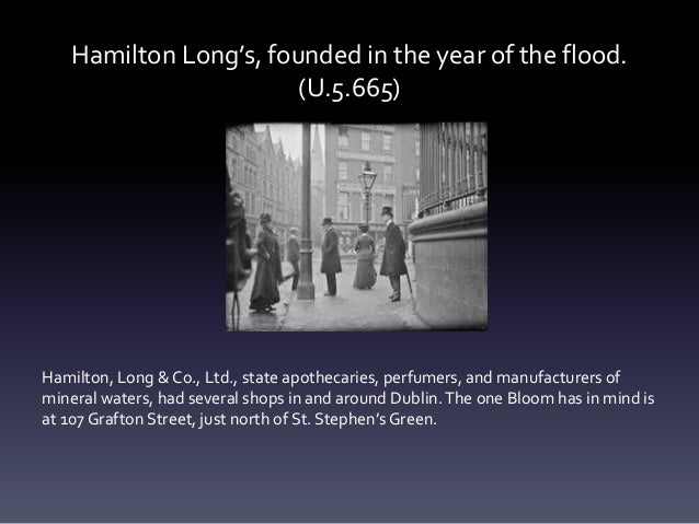 Hamilton Long's, founded in the year of the flood. (U.5.665) Hamilton, Long & Co., Ltd., state apothecaries, perfumers, an...