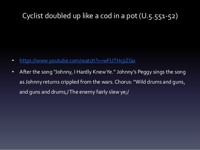 """Cyclist doubled up like a cod in a pot (U.5.551-52) • https://www.youtube.com/watch?v=wFUTHcjiZGo • After the song """"Johnny..."""