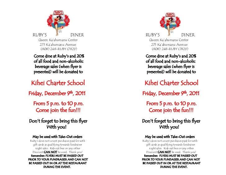 kihei charter school fundraiser flyer