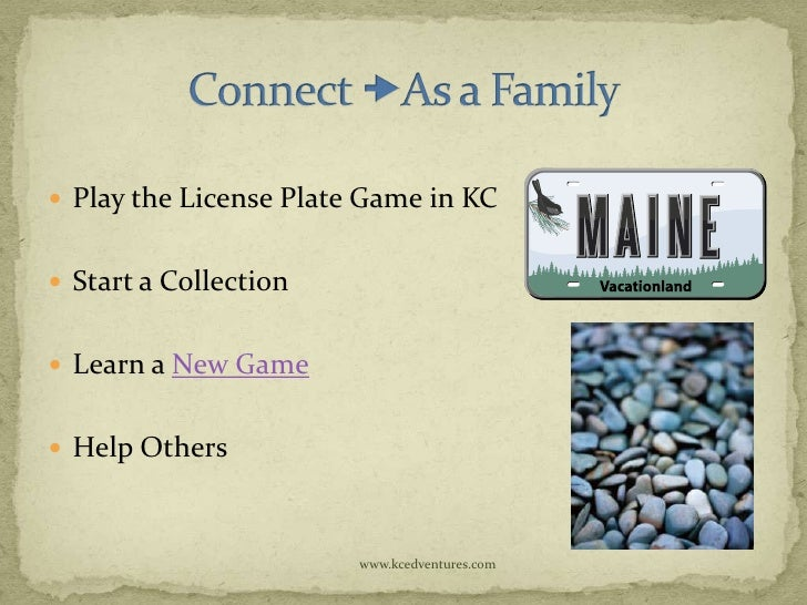  Play the License Plate Game in KC Start a Collection Learn a New Game Help Others                        www.kcedvent...