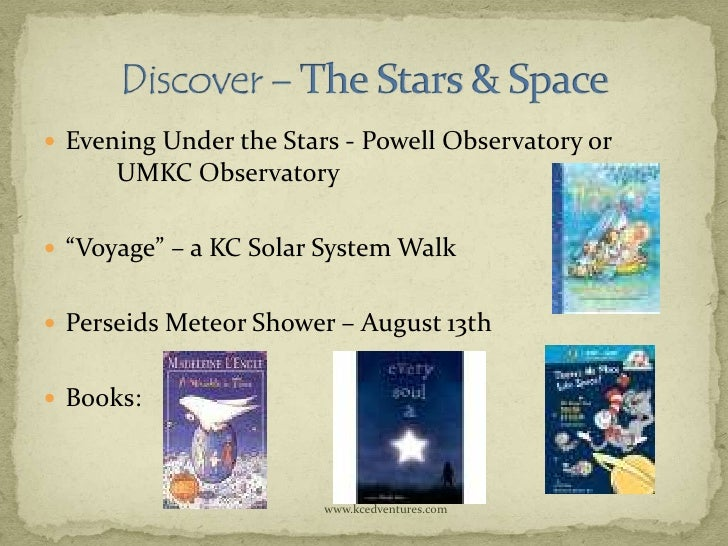 """ Evening Under the Stars - Powell Observatory or      UMKC Observatory """"Voyage"""" – a KC Solar System Walk Perseids Meteo..."""