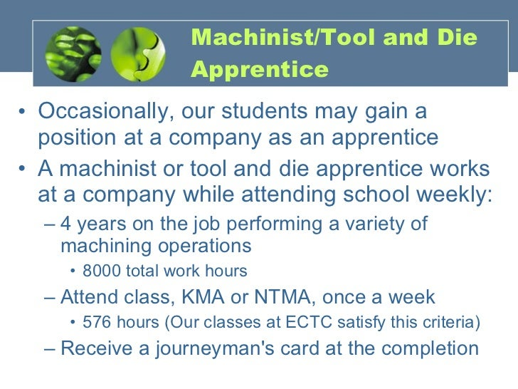 ECTC access to careers Machine Tool Technology – Machinist Job Outlook