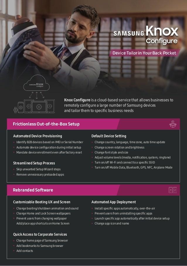 Samsung Knox Configure: Understanding the Features