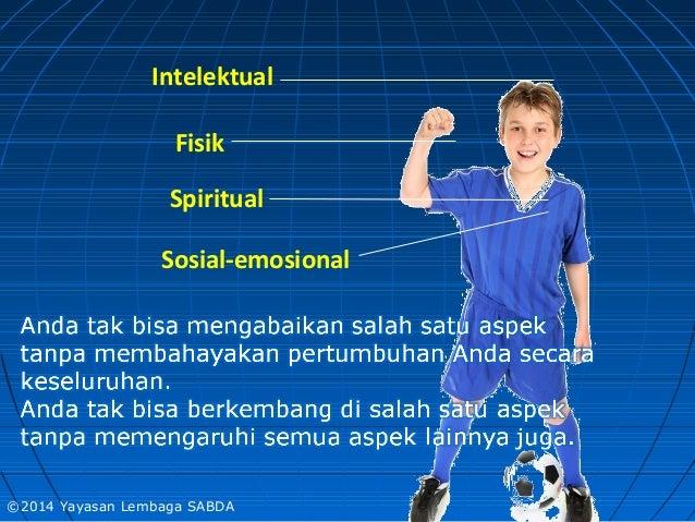 Intelektual Fisik Spiritual Sosial-emosional ©2014 Yayasan Lembaga SABDA