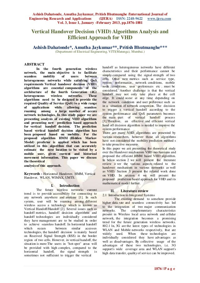 Ashish Dahatonde, Amutha Jaykumar, Pritish Bhutmanghe /International Journal of   Engineering Research and Applications   ...