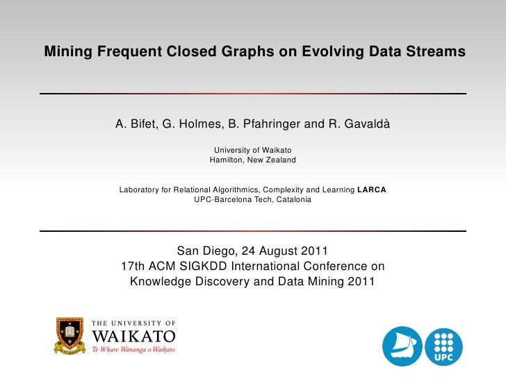 Mining Frequent Closed Graphs on Evolving Data Streams                                                         `         A...