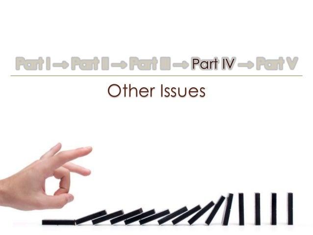 Part I → Part II → Part III → Part IV → Part V              Other Issues