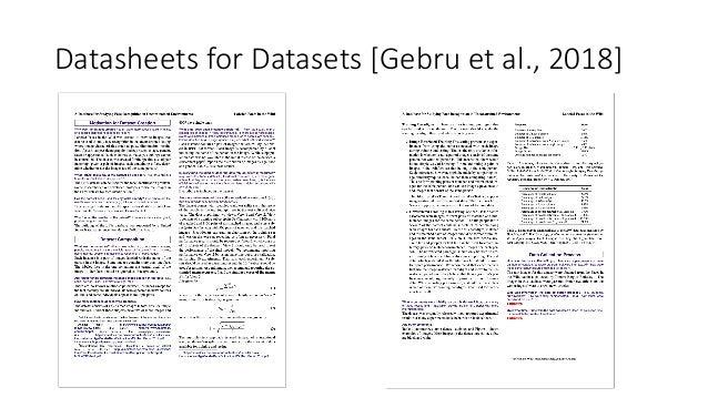 Datasheets for Datasets [Gebru et al., 2018]