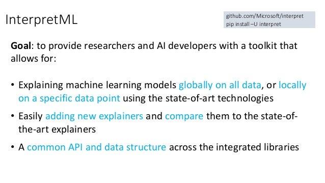 Azure Machine Learning Interpretability Toolkit