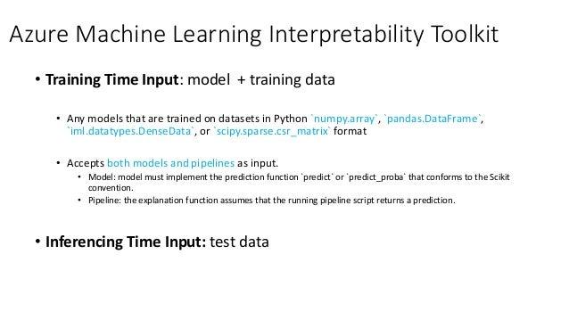 • Interpretability at training time • Combination of glass-box models and black-box explainers • Auto reason code generati...