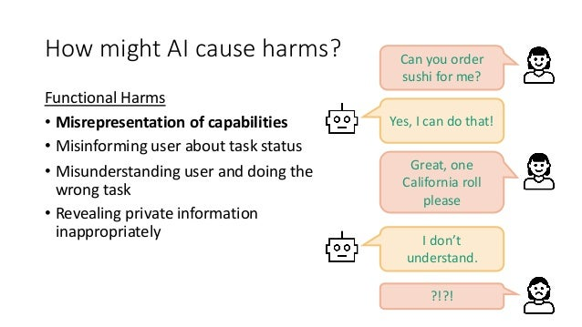 How might AI cause harms? Social Harms: Harms to Individuals • Inciting/encouraging harmful behavior • Self/harm, suicide ...