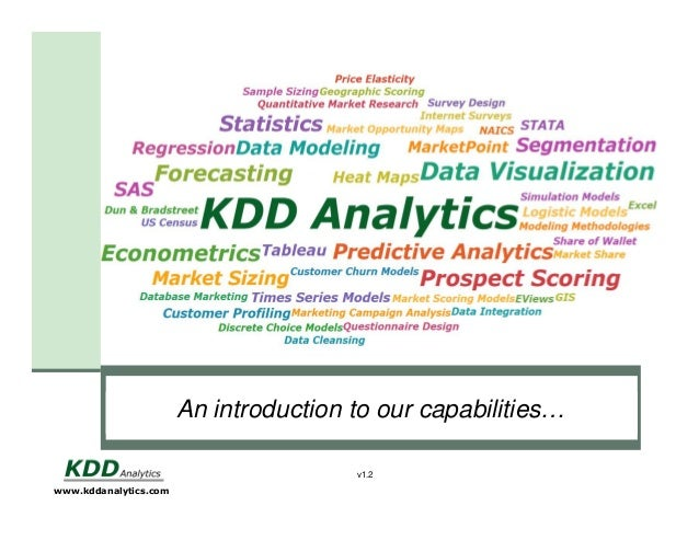 An introduction to subtitle style Click to edit Masterour capabilities… v1.2 www.kddanalytics.com