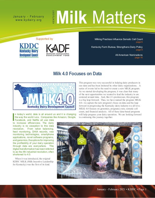 January - February 2021 • KDDC • Page 1 KDDC is supported in part by a grant from the Kentucky Agricultural Development Fu...