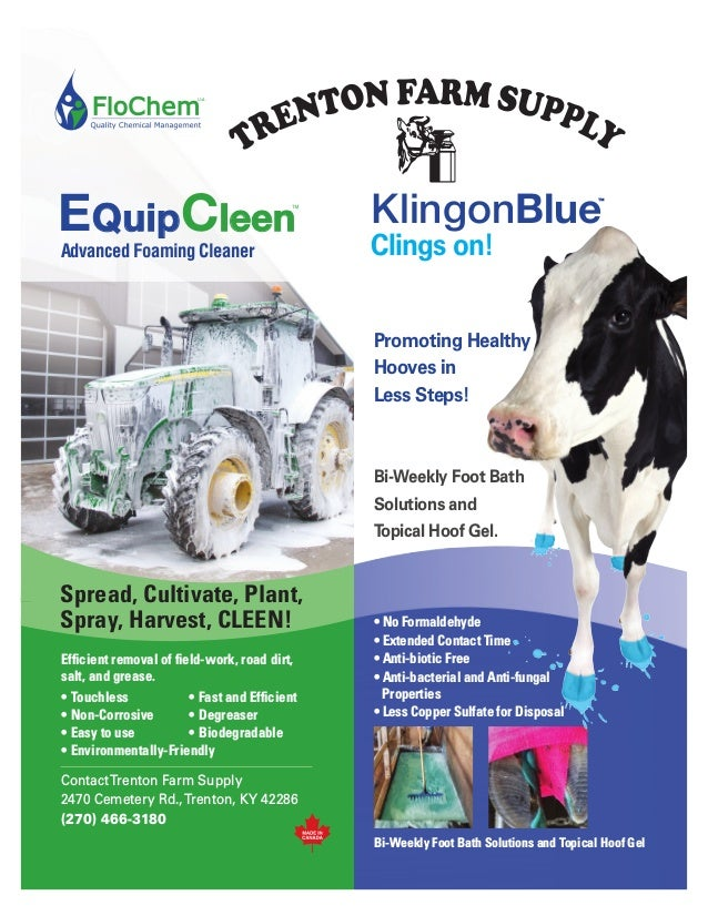 Advanced Foaming Cleaner EQuip QuipCleen leen Efficient removal of field-work, road dirt, salt, and grease. • Touchless • ...