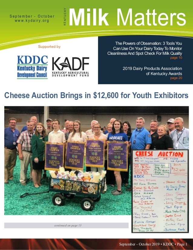September - October 2019 • KDDC • Page 1 KDDC is supported in part by a grant from the Kentucky Agricultural Development F...