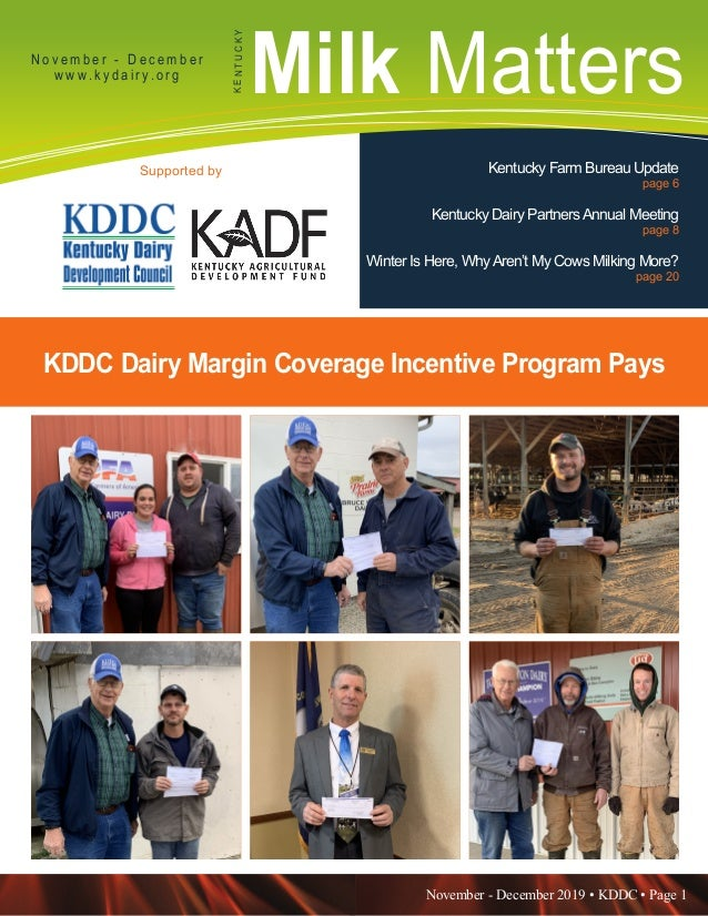 November - December 2019 • KDDC • Page 1 KDDC is supported in part by a grant from the Kentucky Agricultural Development F...