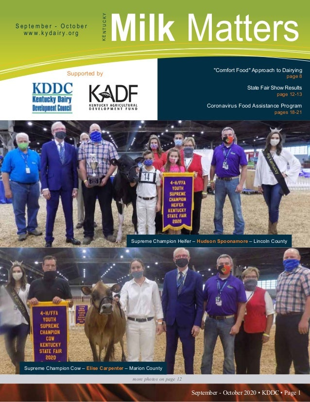 September - October 2020 • KDDC • Page 1 KDDC is supported in part by a grant from the Kentucky Agricultural Development F...